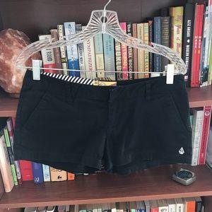 Volcom black short-shorts